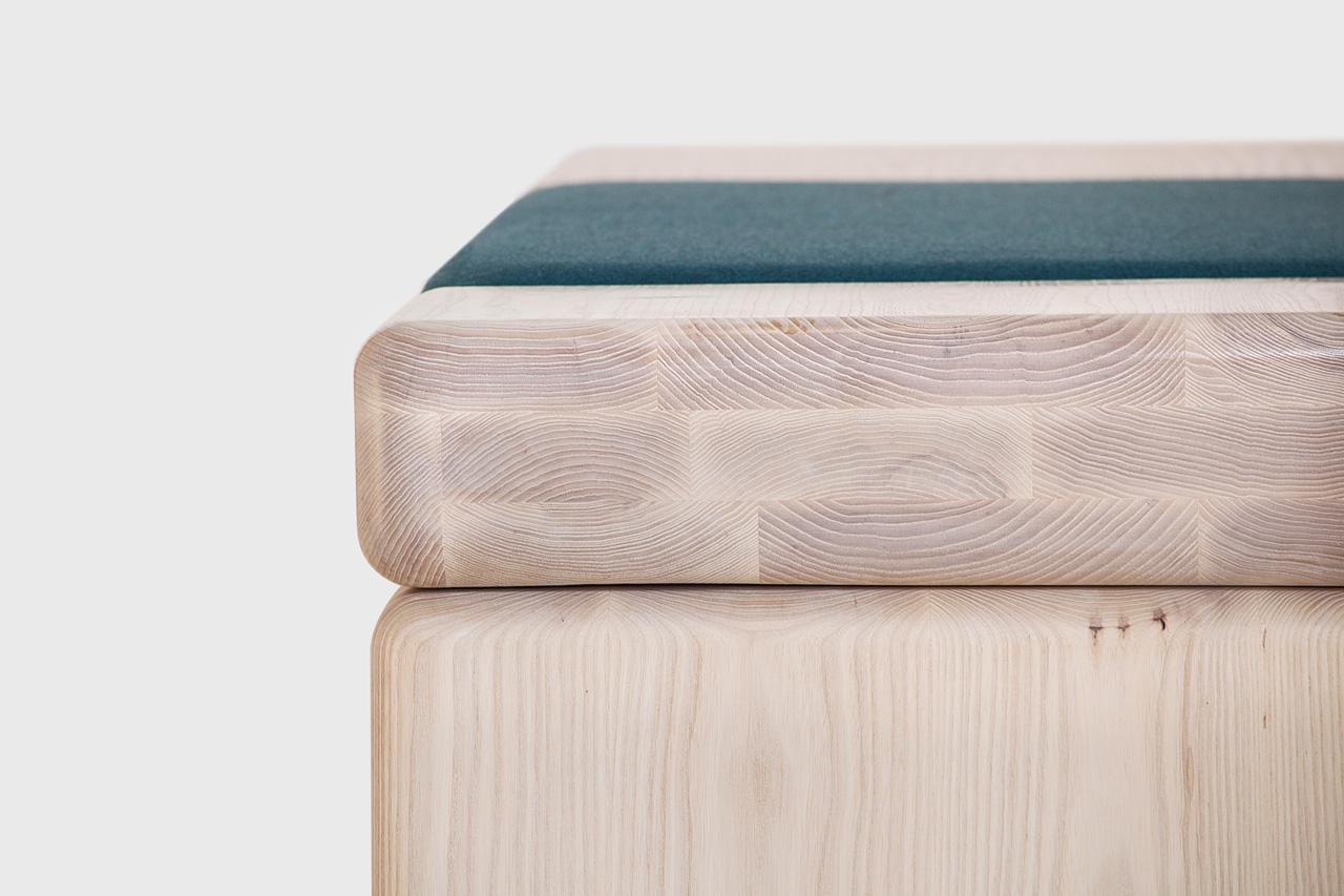 Pillowy Bench Detail